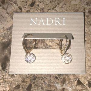 Gorgeous Nadri rhinestone drop earrings